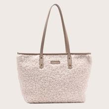 Minimalist Large Capacity Fluffy Tote Bag