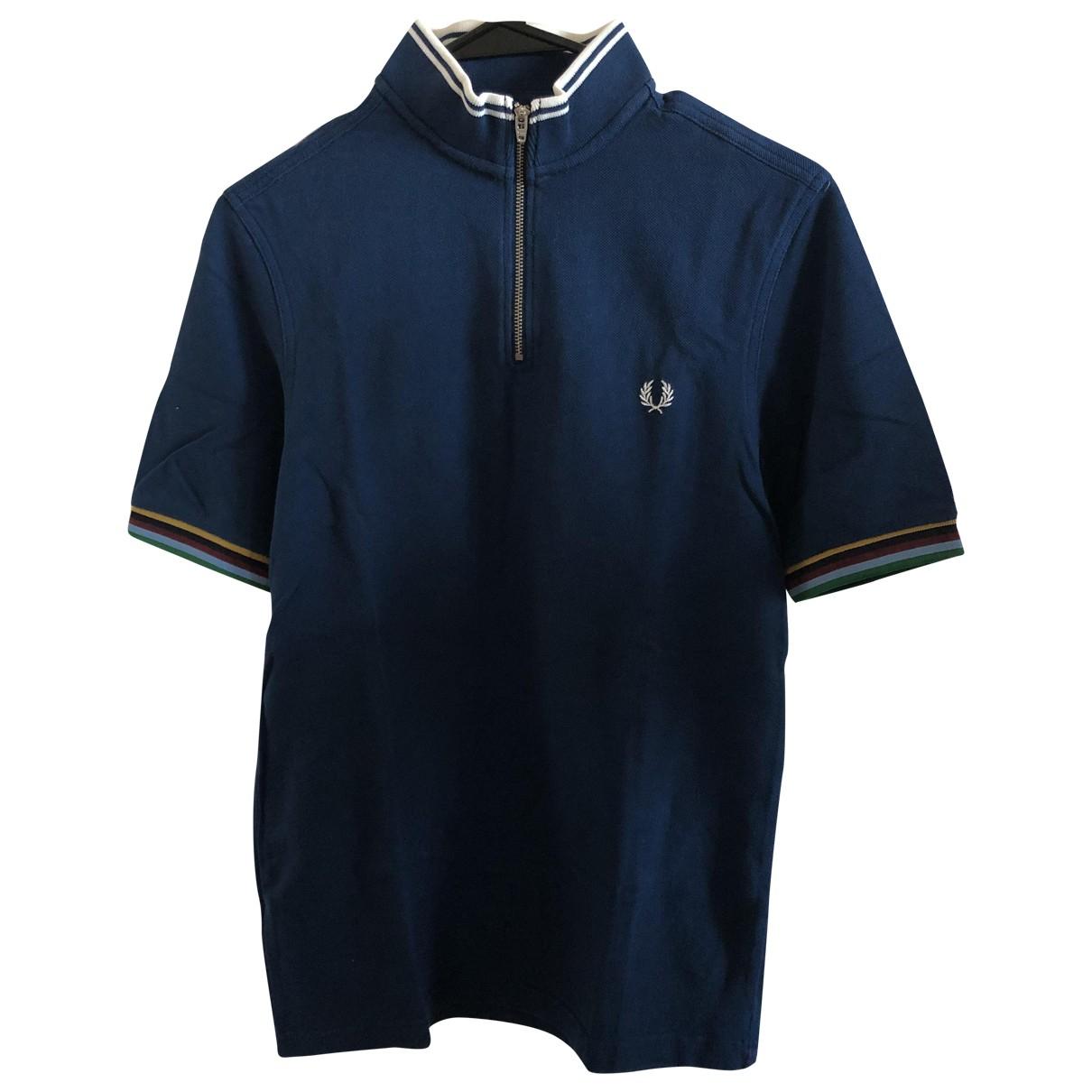 Fred Perry - Polos   pour homme en coton - bleu