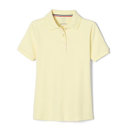 French Toast Little Girls Short Sleeve Polo Shirt, X-small , Yellow