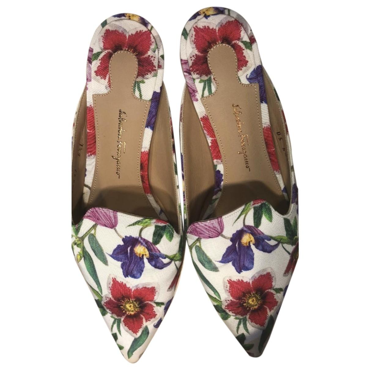 Salvatore Ferragamo \N Multicolour Cloth Mules & Clogs for Women 36.5 EU