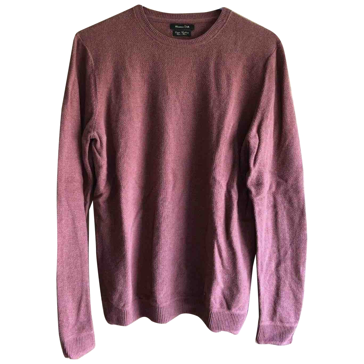 Massimo Dutti \N Pullover.Westen.Sweatshirts  in  Bordeauxrot Baumwolle