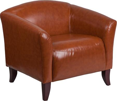 Hercules Imperial Collection 111-1-CG-GG Chair with 1.8 High Density Foam  Cherry Stained Wood Feet  Hardwood Frame Construction and LeatherSoft