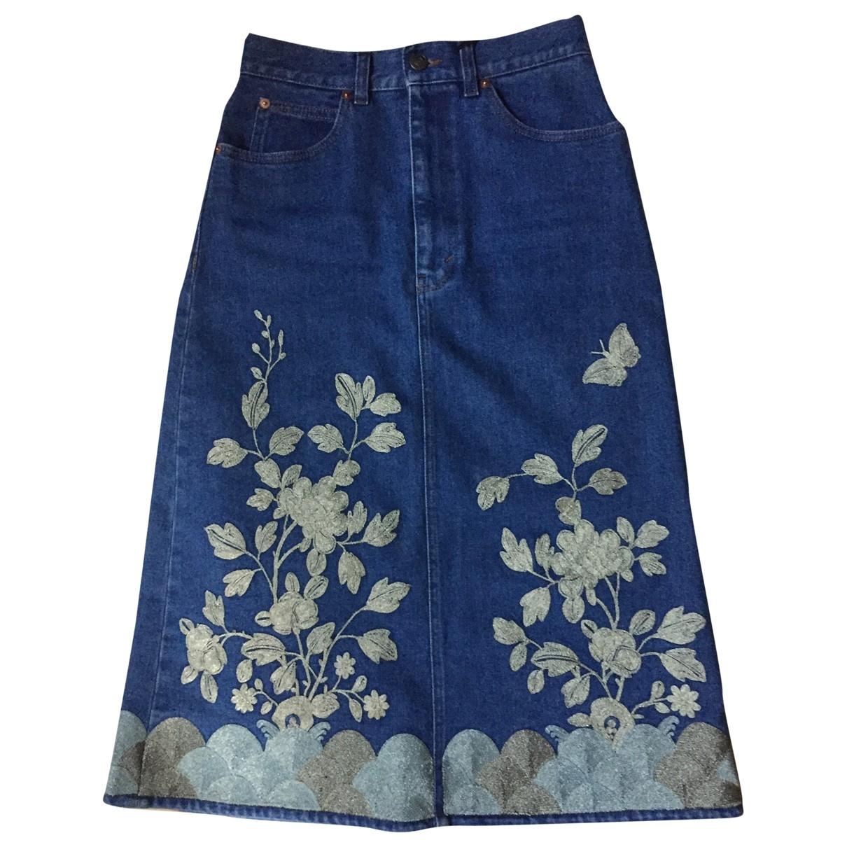 Gucci \N Blue Denim - Jeans skirt for Women 40 IT