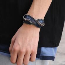 Guys Zipped Decor Bracelet