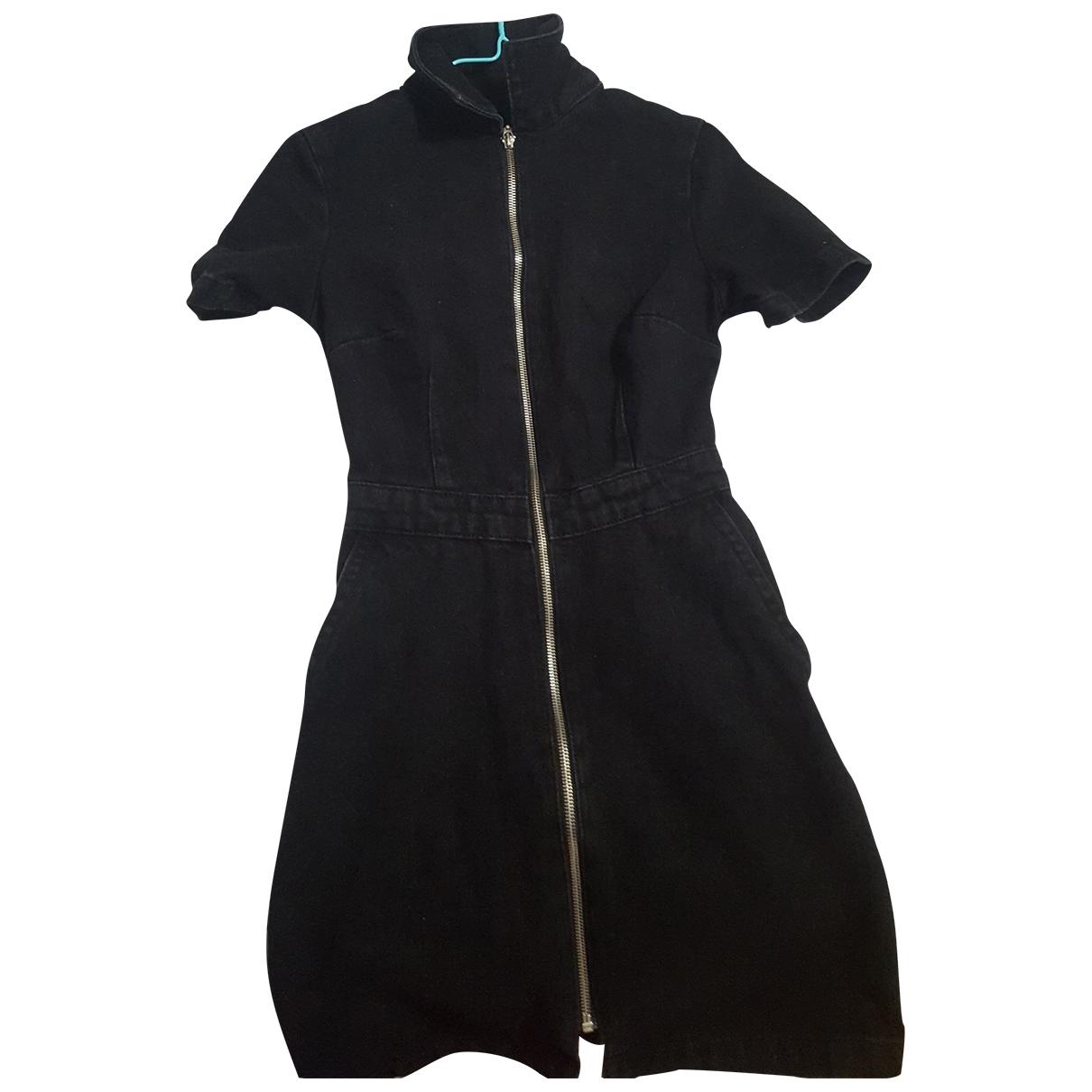 Non Signe / Unsigned \N Kleid in  Schwarz Denim - Jeans