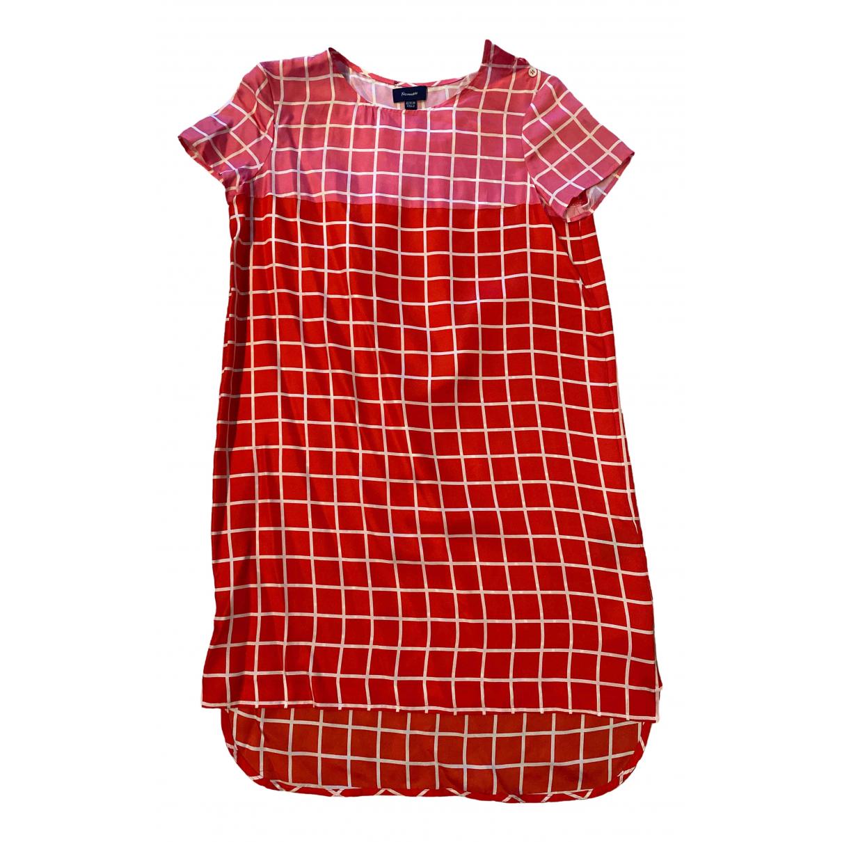 Faconnable \N Kleid in  Rot Seide