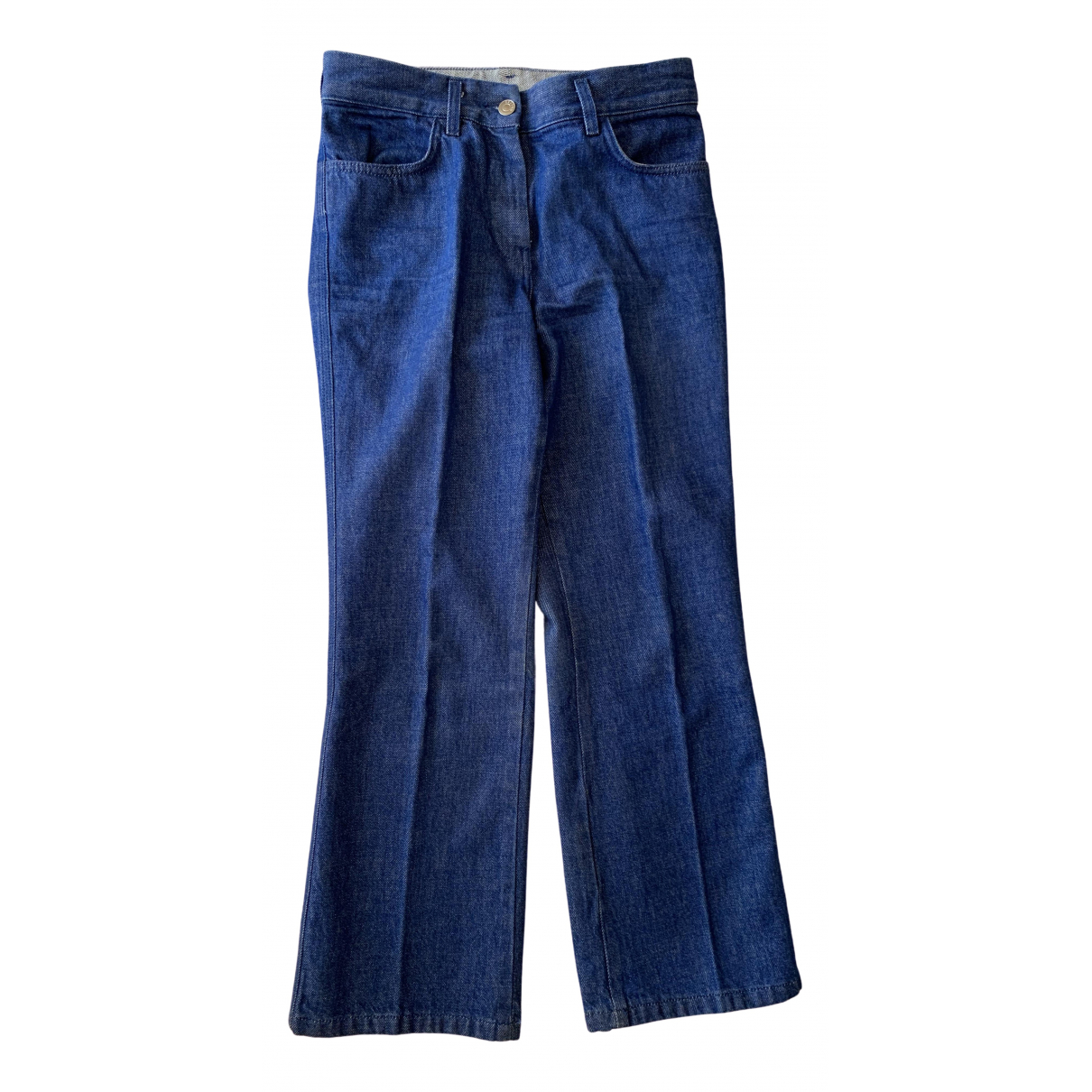 Arket \N Blue Cotton Trousers for Women 34 FR