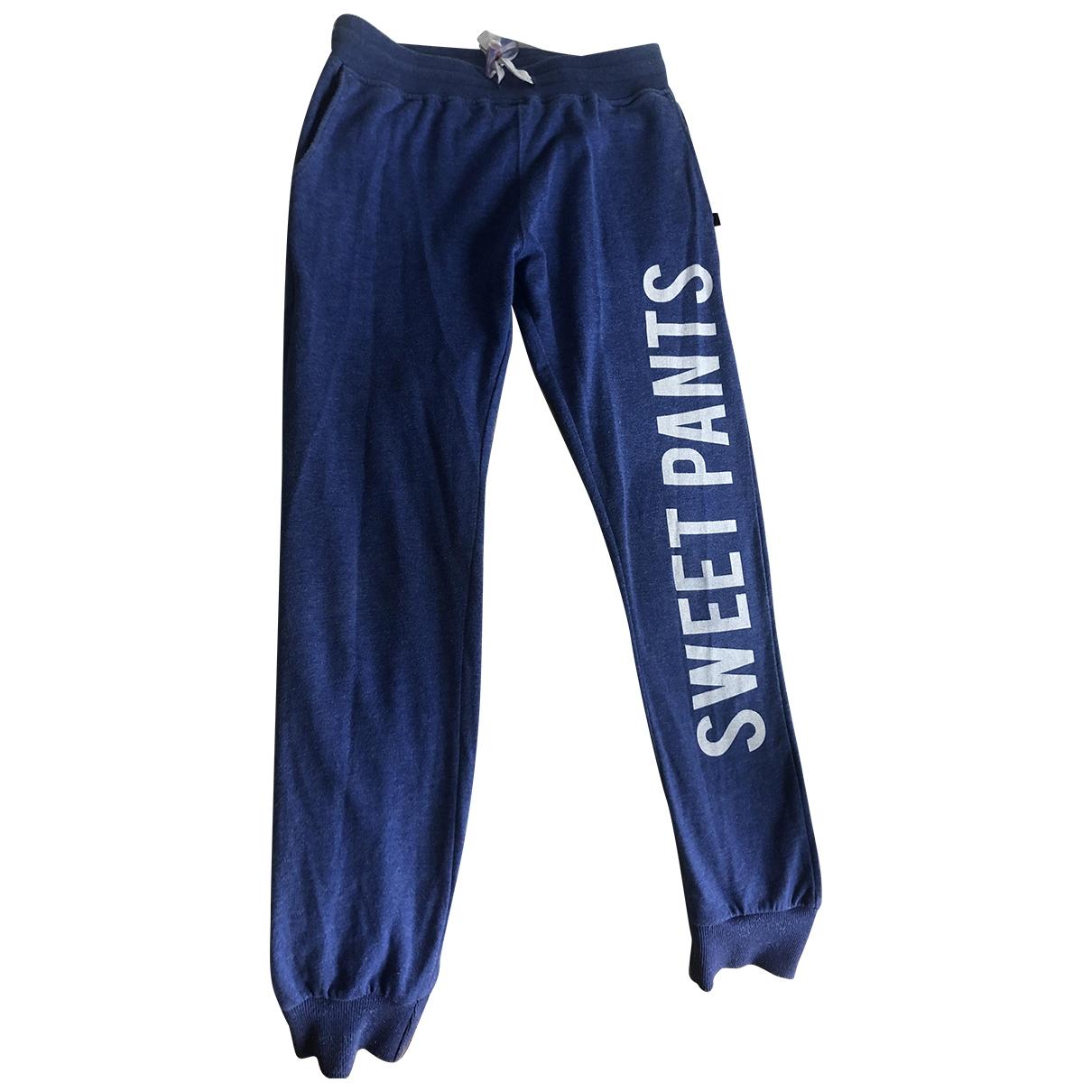 Sweet Pants \N Blue Cotton Trousers for Men S International