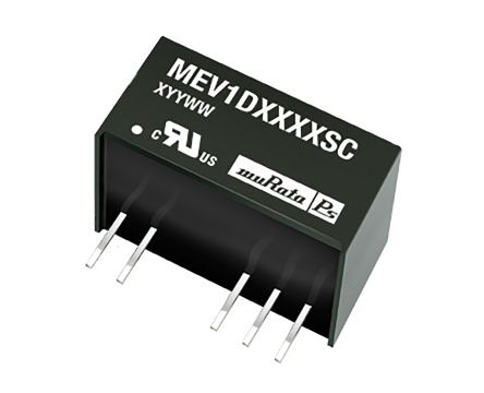 Murata Power Solutions MEV1 1W Isolated DC-DC Converter Through Hole, Voltage in 21.6 → 26.4 V dc, Voltage out
