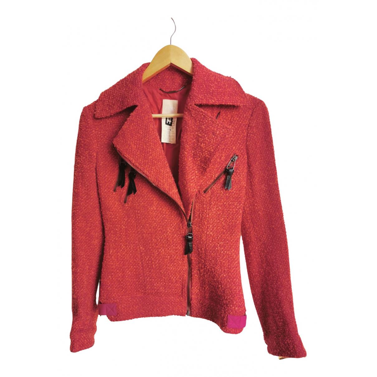 Versus - Veste   pour femme en tweed - rouge