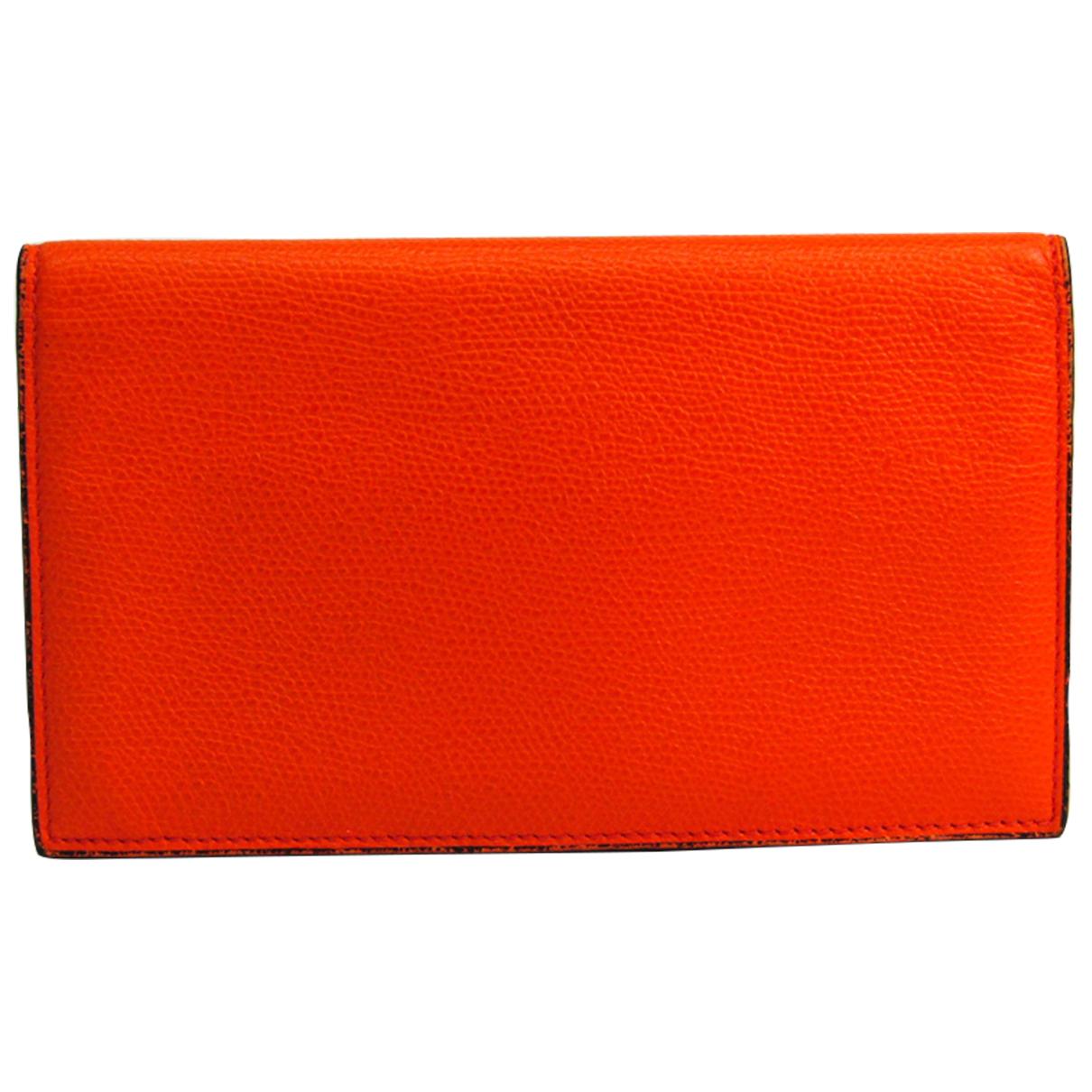 Valextra \N Portemonnaie in  Orange Leder