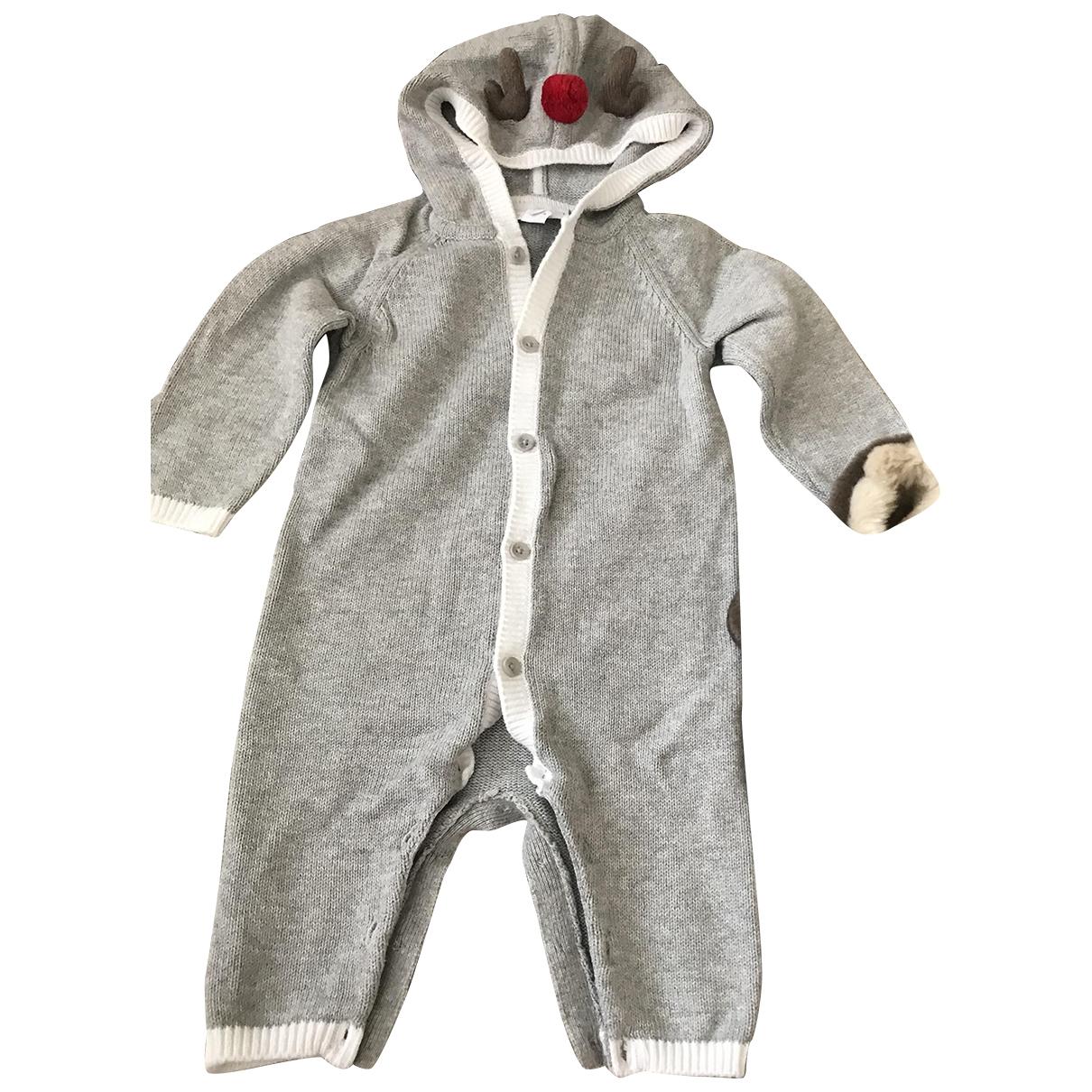 Little White Company - Les ensembles   pour enfant en coton - gris
