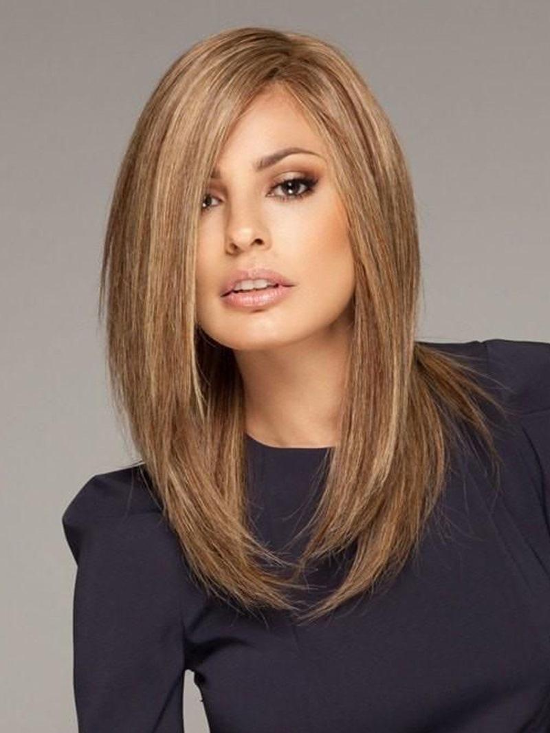Ericdress Straight Bob Medium Length Synthetic Hair Capless Wigs 16 Inches
