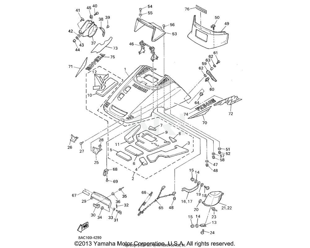 Yamaha OEM 8Y0-77762-70-00 LABEL, WARNING 2 | FOR CANADA