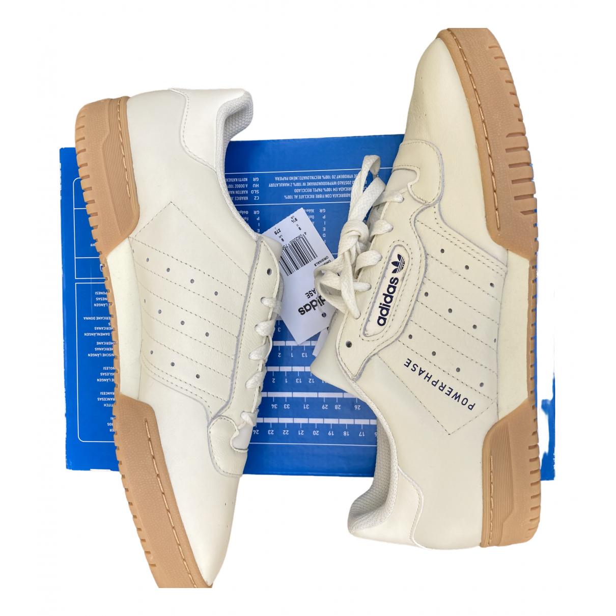 Adidas - Baskets   pour homme en cuir - beige