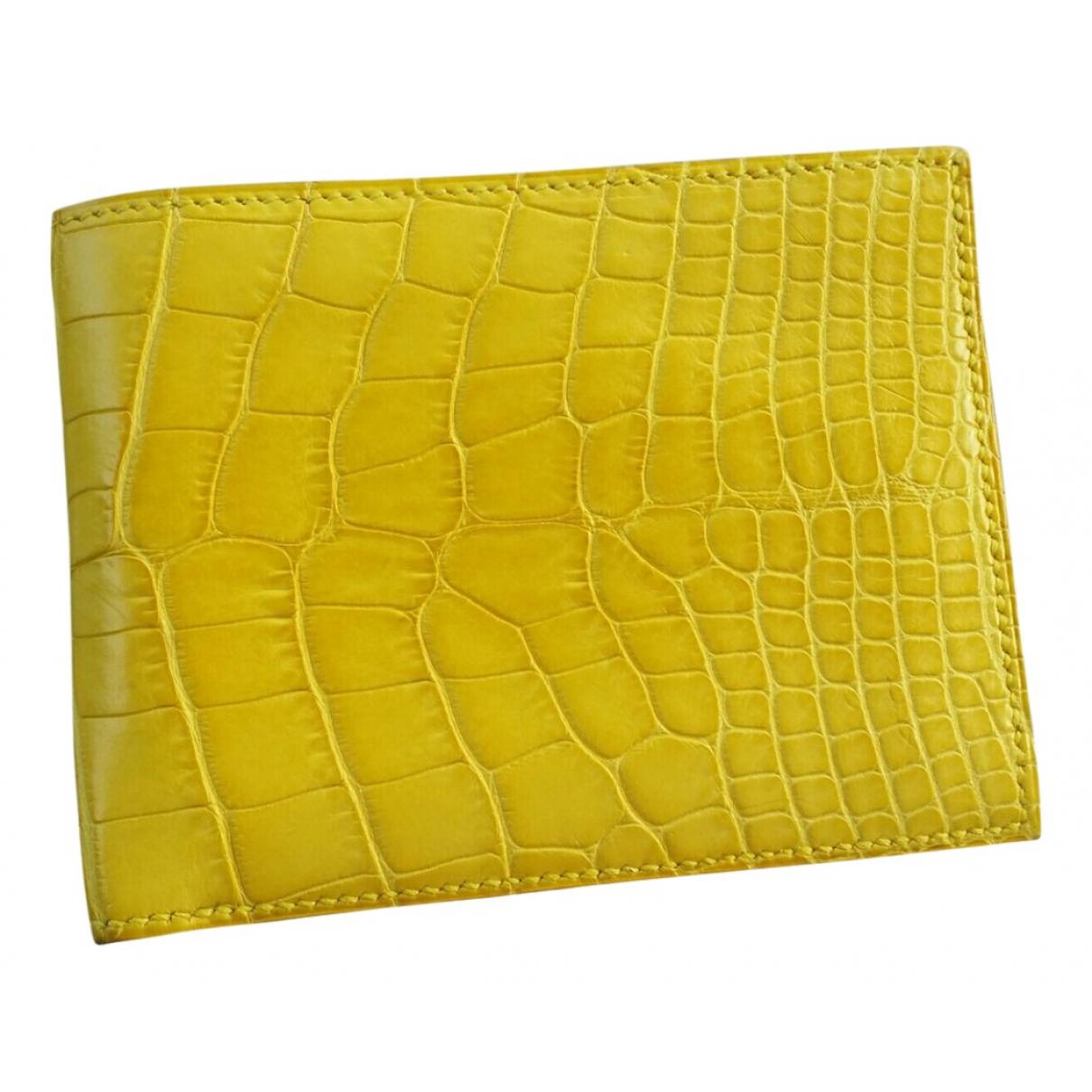 Hermès MC2 Yellow Alligator Small bag, wallet & cases for Men \N