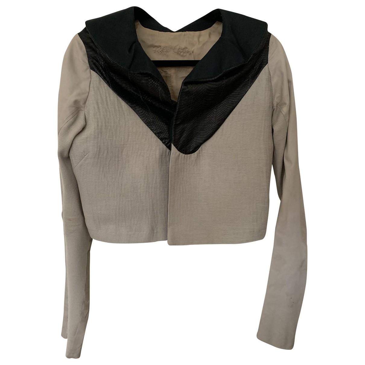 Rick Owens \N Black Python jacket for Women 42 IT