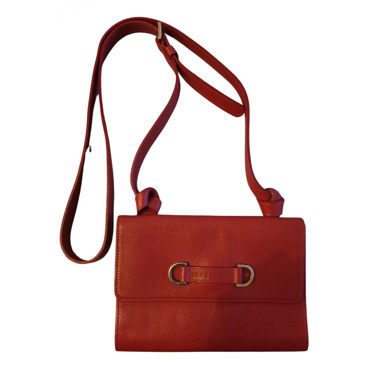 Longchamp \N Clutch in  Bordeauxrot Lackleder
