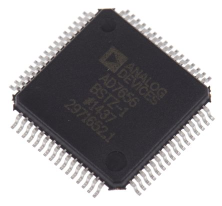 Analog Devices AD7656BSTZ-1, 16-bit Parallel ADC 6-Channel, 64-Pin LQFP