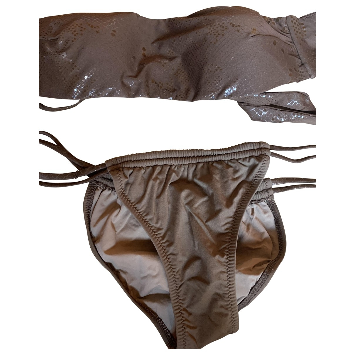 Bikini Lovers \N Badeanzug in  Braun Baumwolle - Elasthan