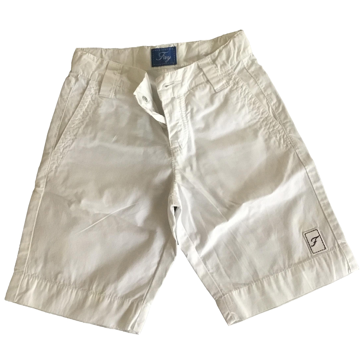 Fay \N White Cotton Trousers for Kids 4 years - up to 102cm FR