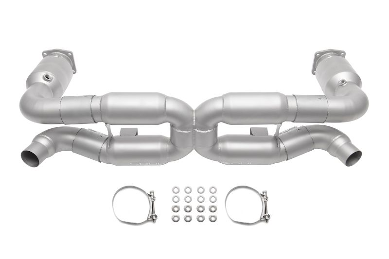 Soul Performance Sport X-Pipe Exhaust System with Sport Catalytic Converters Reuse factory tips Porsche 996 GT2 01-05