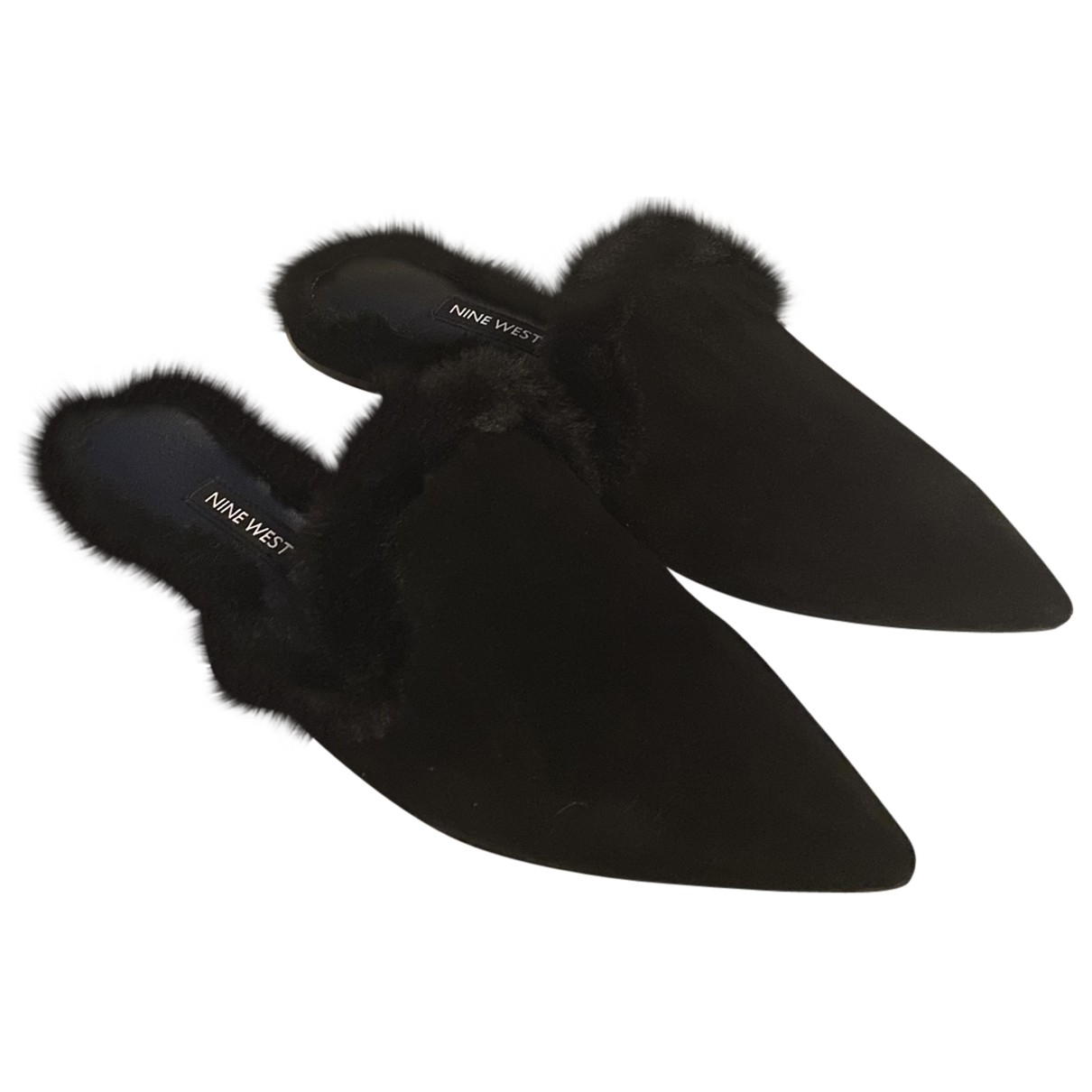 Nine West \N Black Velvet Mules & Clogs for Women 37 EU