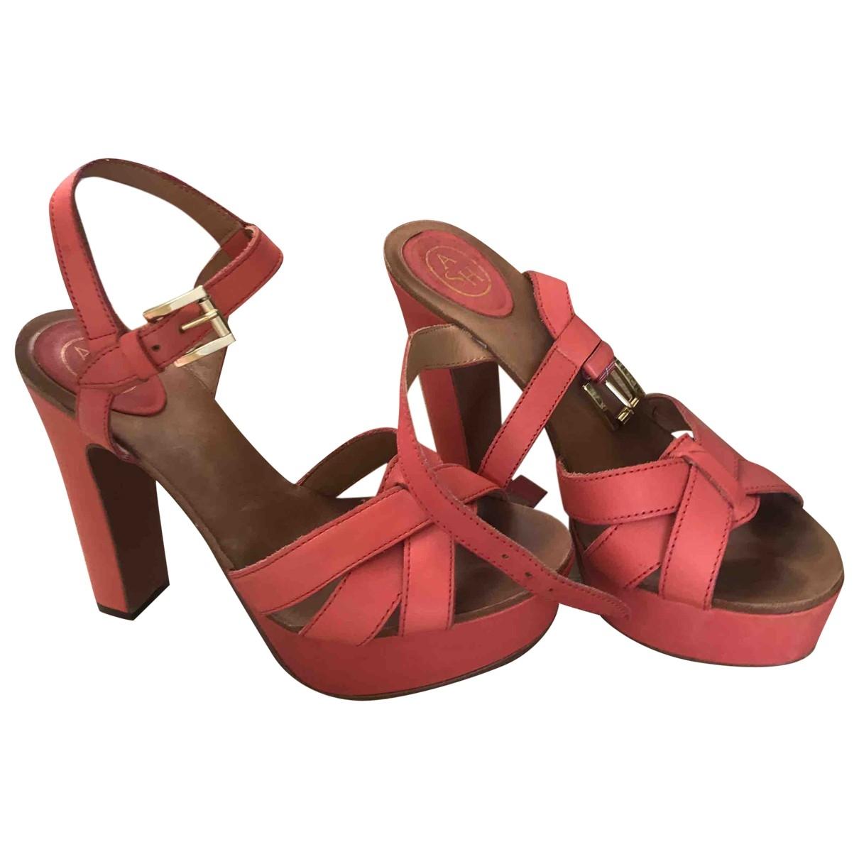 Ash - Sandales   pour femme en cuir - rose