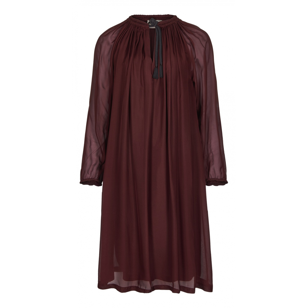 Lanvin N Burgundy Silk dress for Women M International