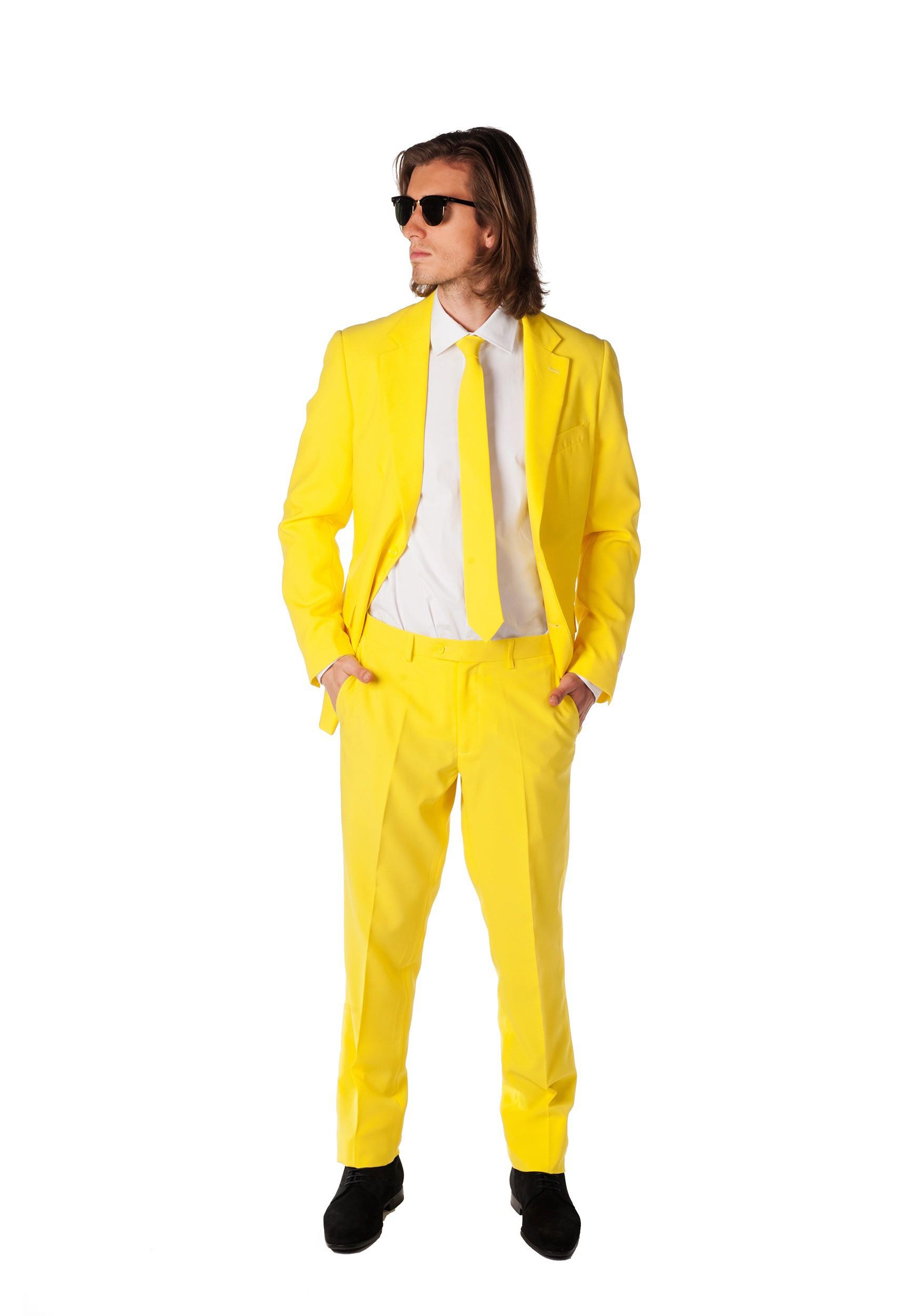 OppoSuits Men's Yellow Suit