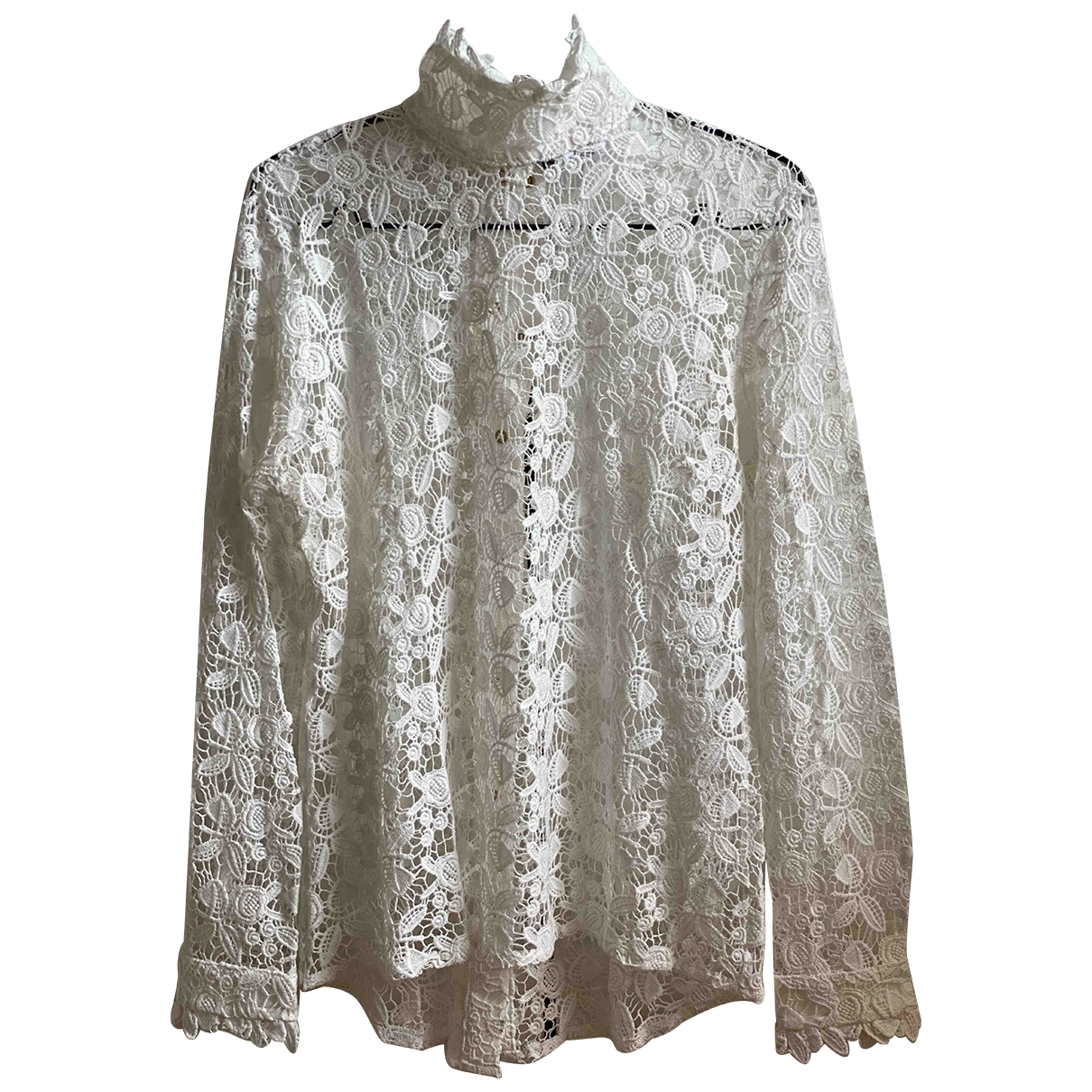 Roseanna \N White Lace  top for Women 38 FR