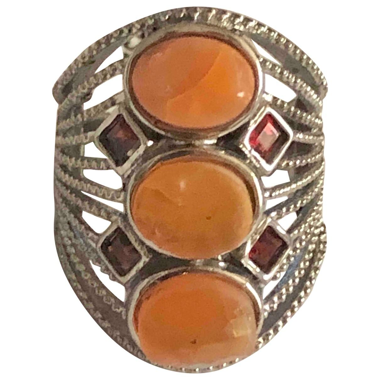 - Bague Opale pour femme en metal - orange