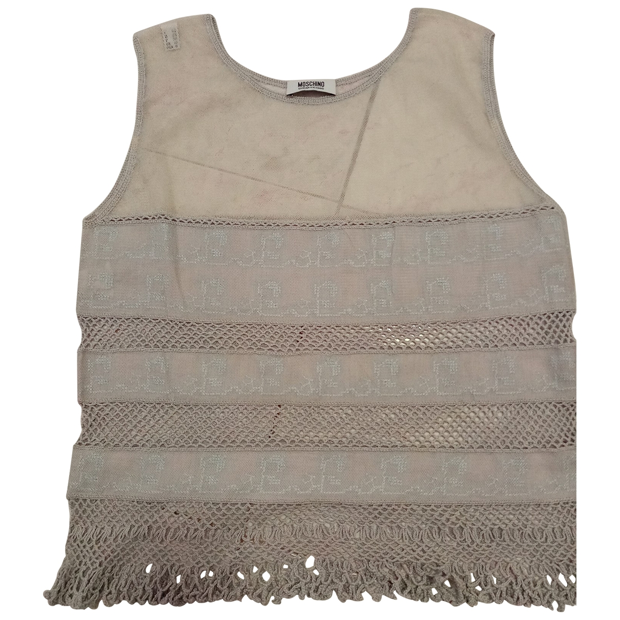 Moschino Cheap And Chic \N Top in  Grau Baumwolle