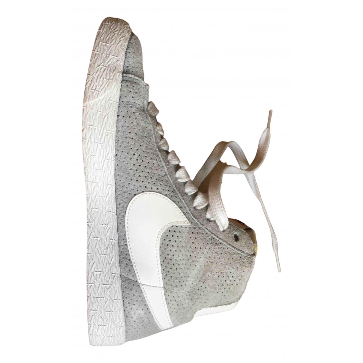 Nike - Baskets Blazer pour enfant en cuir - gris