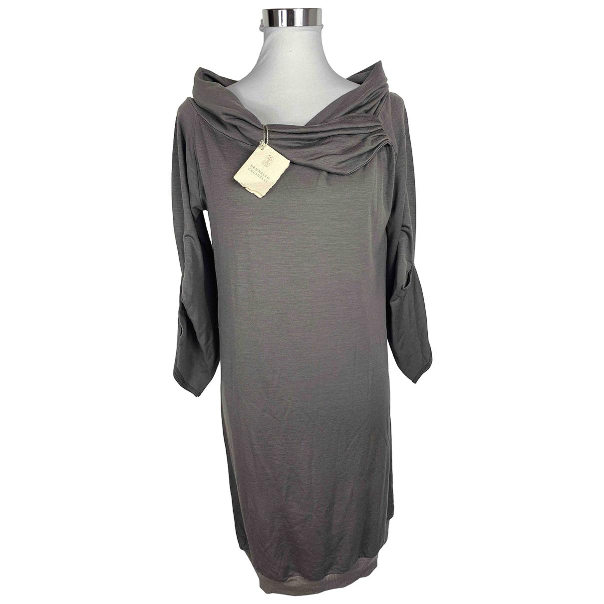 Brunello Cucinelli \N Kleid in  Beige Baumwolle