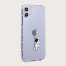 Astronaut Print Transparent iPhone Case