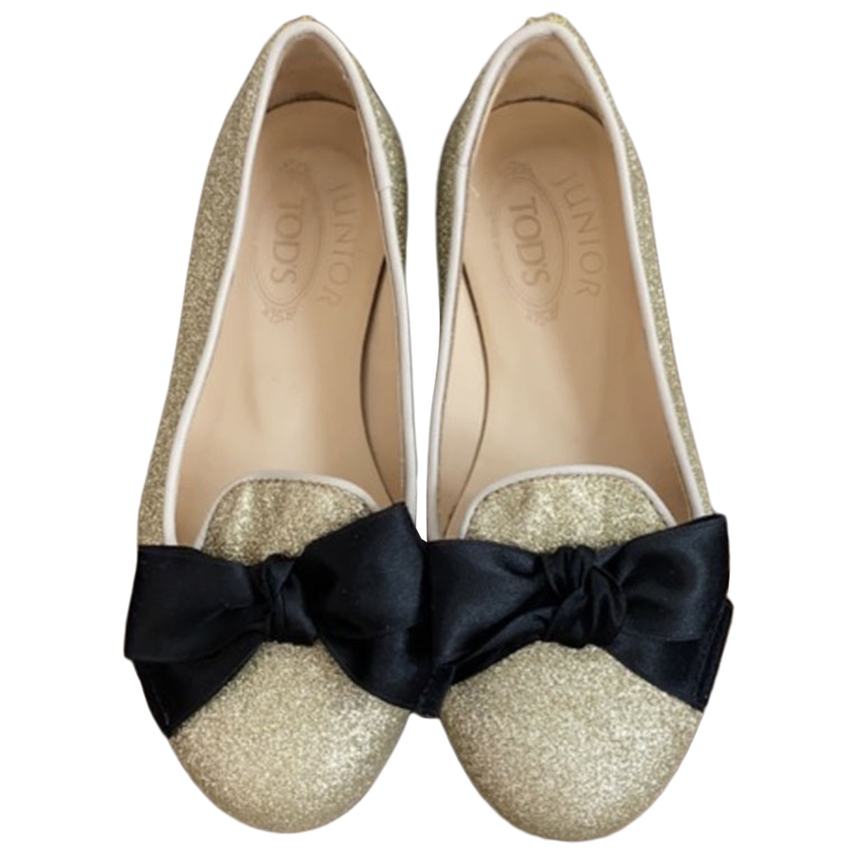 Tod's N Gold Leather Ballet flats for Kids 28 FR