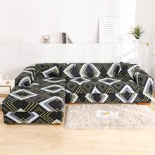 Geometric Pattern Stretchy Sofa Cover Without Cushion