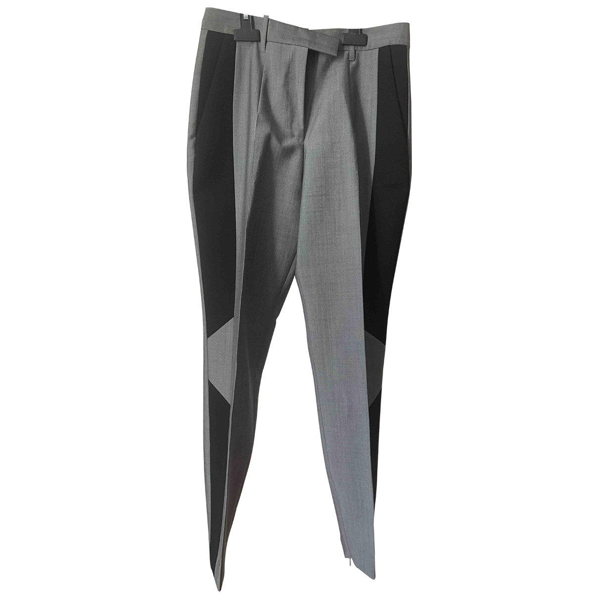 Barbara Bui \N Grey Wool Trousers for Women 38 FR