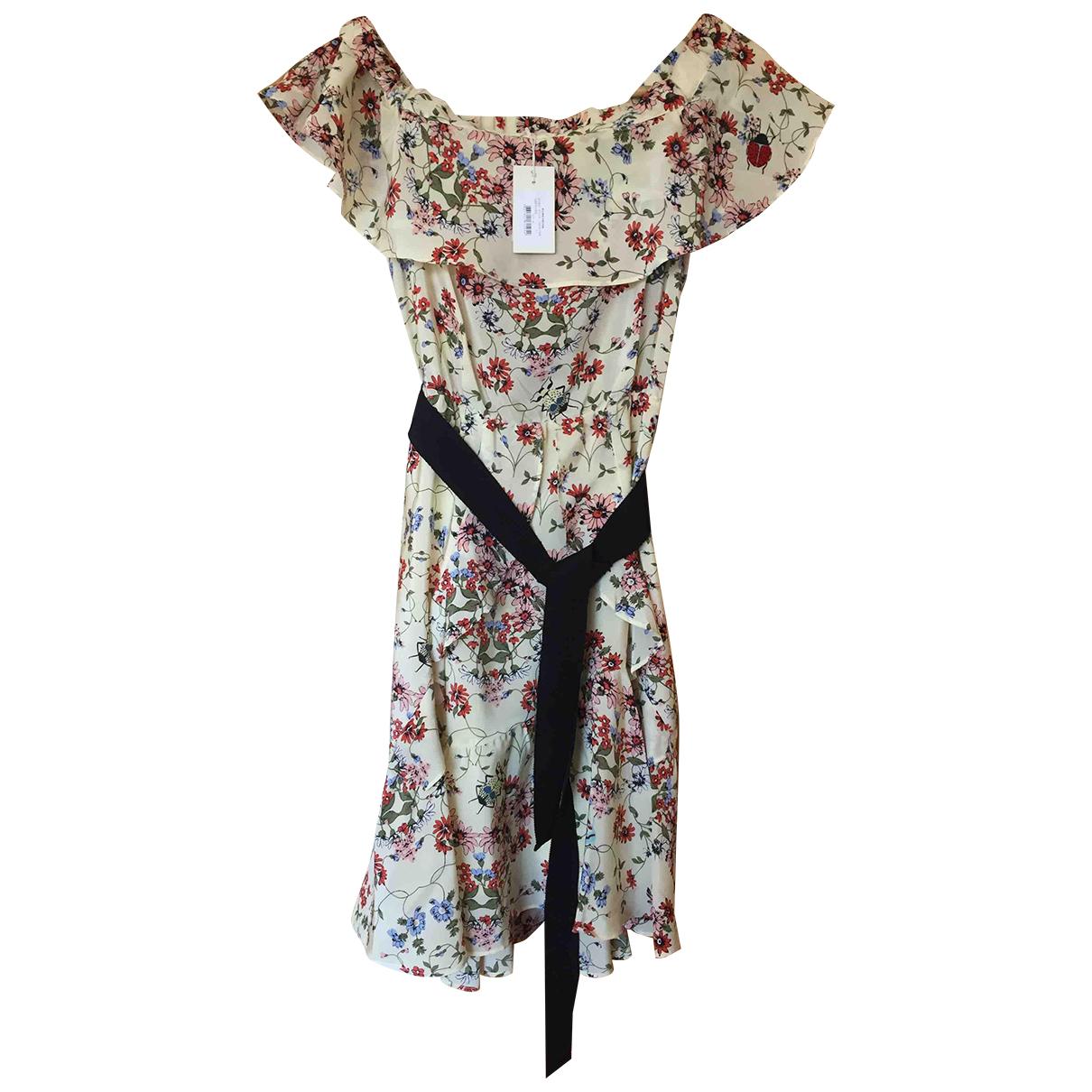 Maje - Robe   pour femme en soie - multicolore