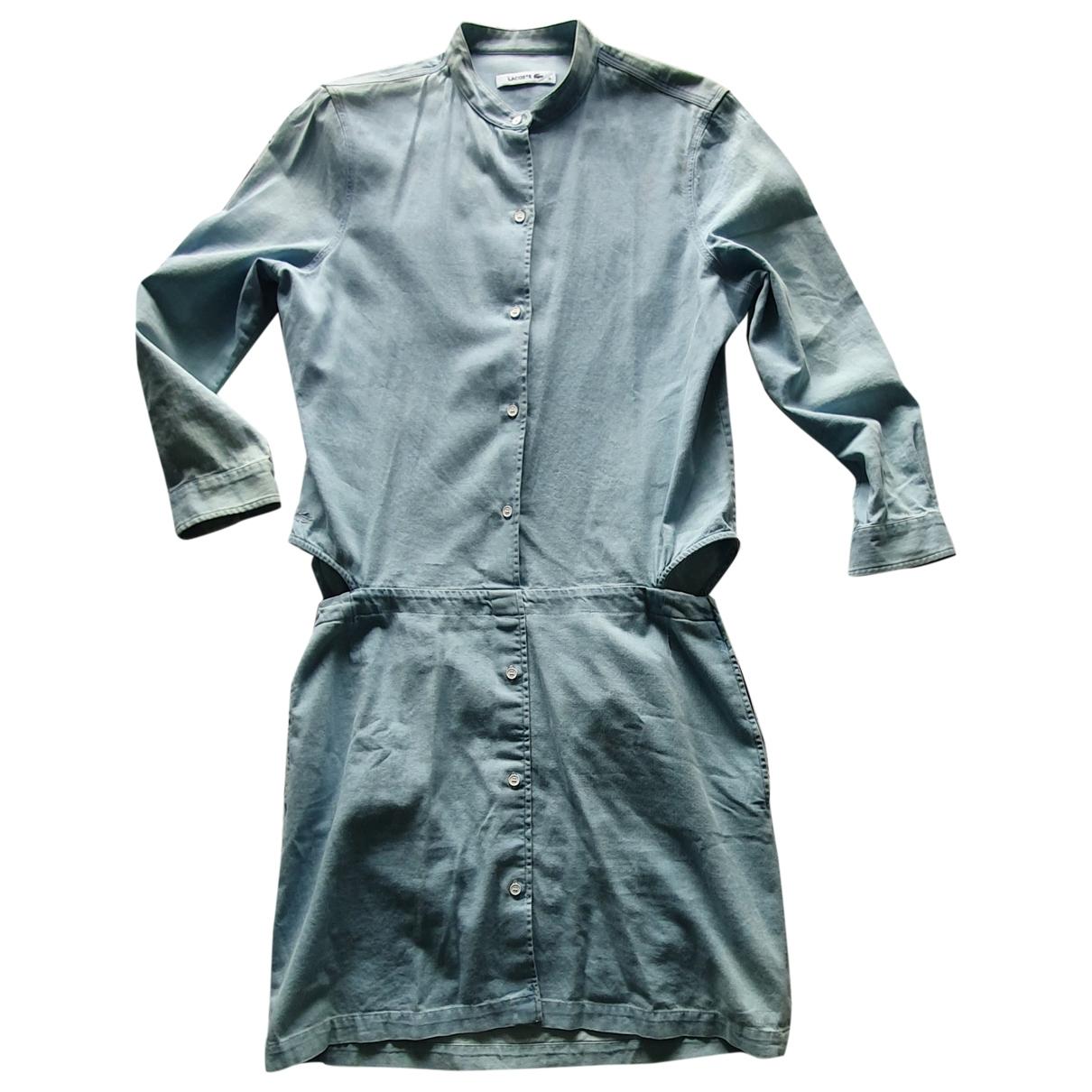 Lacoste - Robe   pour femme en coton - bleu
