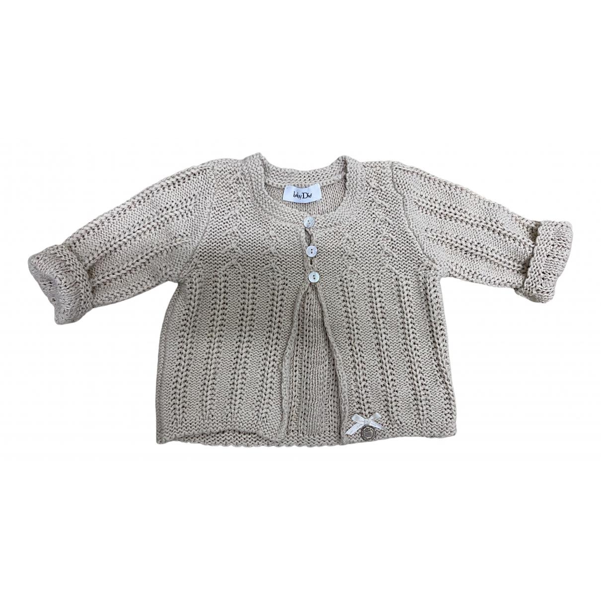 Dior N Beige Wool Knitwear for Kids 3 months - up to 60cm FR