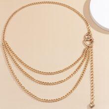 Heart Layered Waist Chain