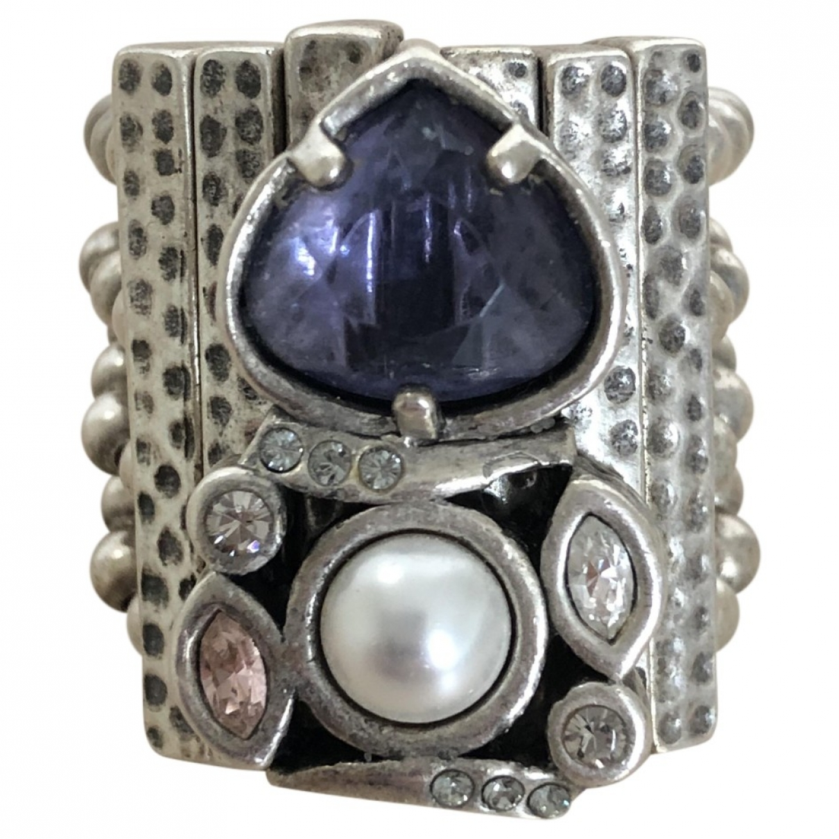 Non Signé / Unsigned Art Déco Silver Silver ring for Women \N