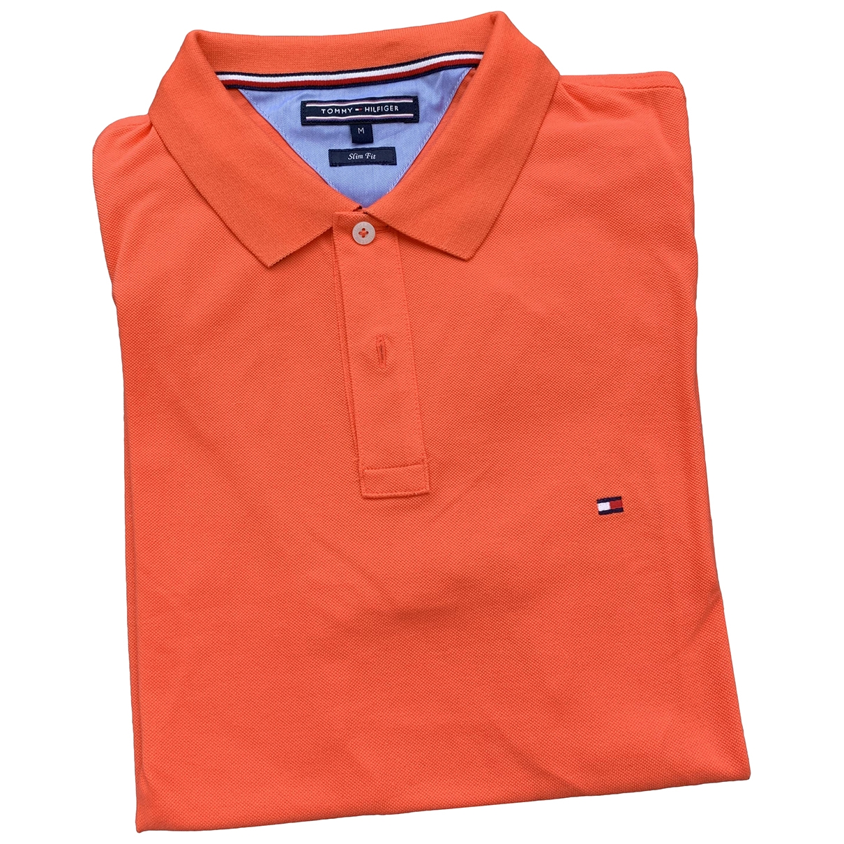 Tommy Hilfiger \N Orange Cotton Polo shirts for Men M International