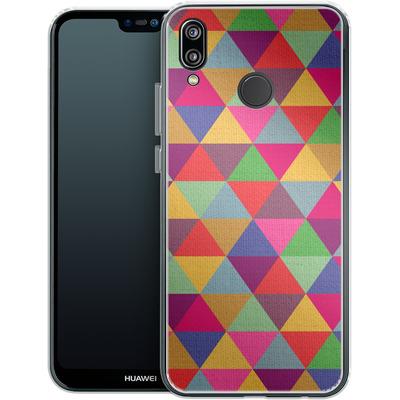Huawei P20 Lite Silikon Handyhuelle - In Love With Triangles von Bianca Green