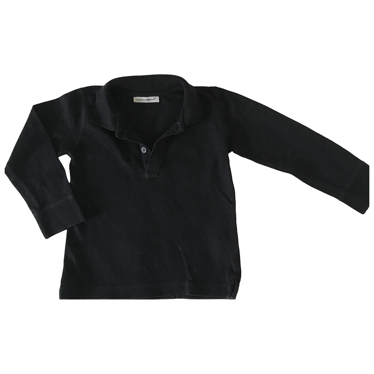 Dolce & Gabbana - Top   pour enfant en coton - noir