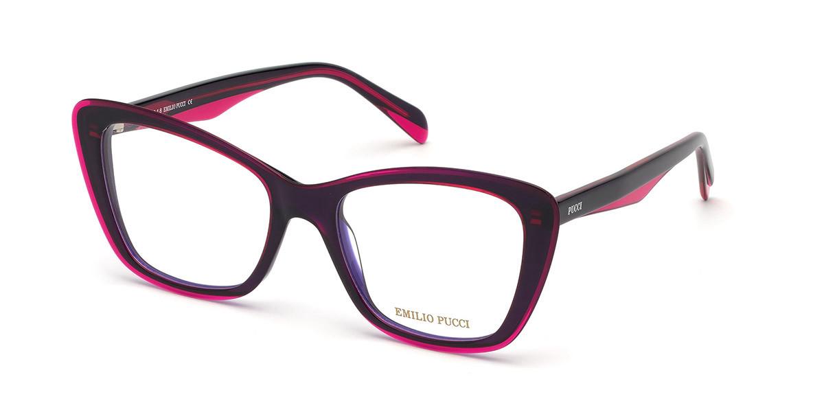 Emilio Pucci EP5097 077 Women's Glasses  Size 54 - Free Lenses - HSA/FSA Insurance - Blue Light Block Available