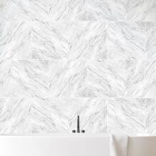 2 Stuecke Wandaufkleber mit Marmor Muster