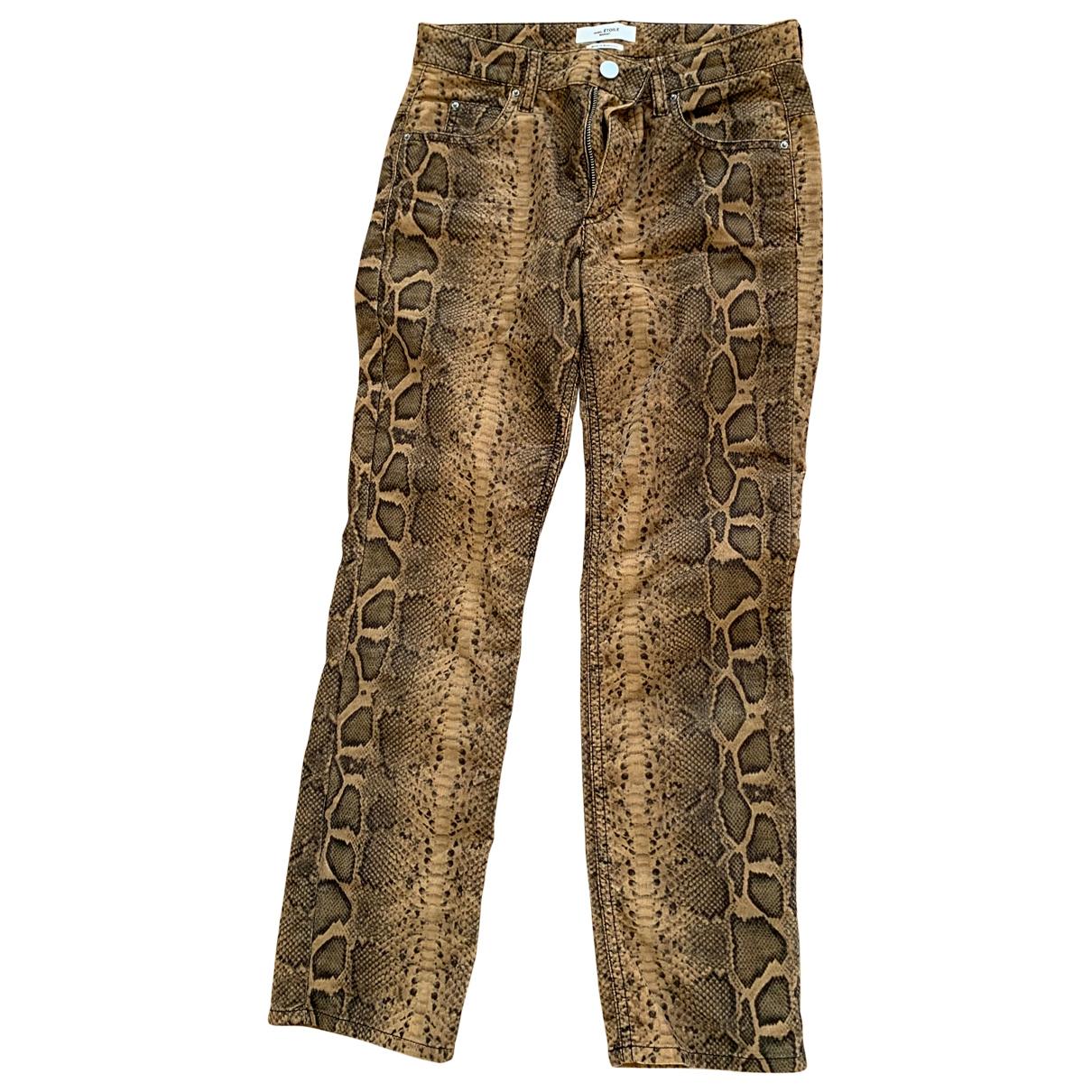 Isabel Marant Etoile \N Beige Cotton Trousers for Women 34 FR